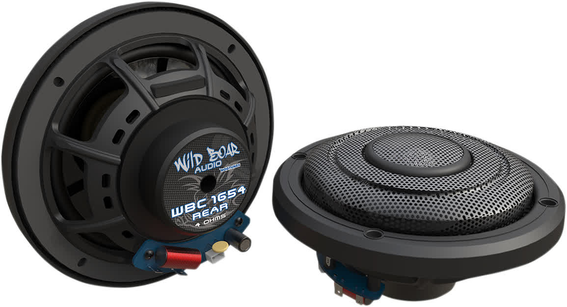 Hogtunes Wild Boar WBC 1654 REAR 150 Watt 4ohm Speakers 14+ FLH 4405-0496