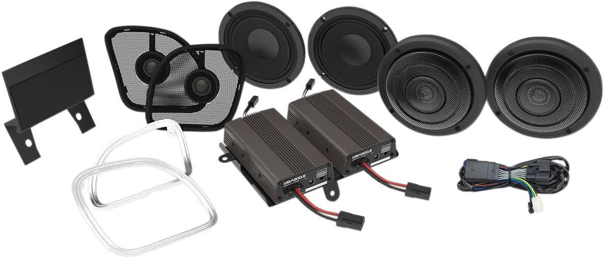 Hogtunes Wild Boar WBA ULTRA KT RG 600 Watt 4-Speaker & Amp Kit Harley 15+ FLTR