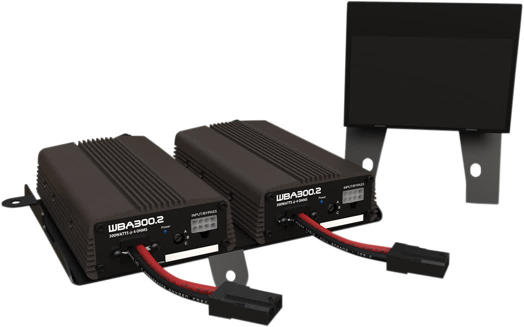 Hogtunes Wild Boar WBA 600 4 600 Watt 4ohm 4 Channel Amp Kit 14+ FL 4405-0484