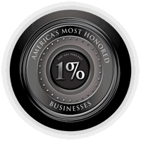 Jantize Commercial Cleaning - America's Most Honored Businesses Top 1% - Award Badge
