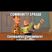 COMMUNITY SPREADCoronavirus, Everywhere!