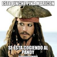 ESTE PINCHE PINA MARICONSE ESTA COGIENDO AL PANDY
