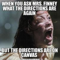 WHEN YOU ASK MRS. FINNEY WHAT THE DIRECTIONS ARE AGAINBUT THE DIRECTIONS ARE ON CANVAS