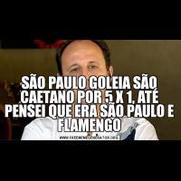 SÃO PAULO GOLEIA SÃO CAETANO POR 5 X 1, ATÉ PENSEI QUE ERA SÃO PAULO E FLAMENGO