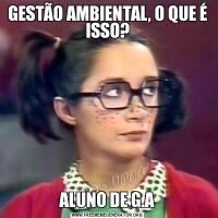 GESTÃO AMBIENTAL, O QUE É ISSO?ALUNO DE G.A