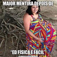 """MAIOR MENTIRA DEPOIS DE""""ED FÍSICA É FÁCIL"""""""