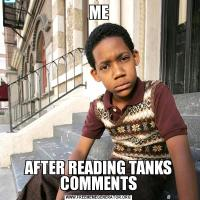 MEAFTER READING TANKS COMMENTS