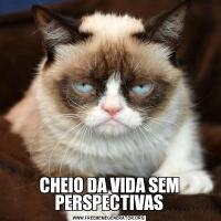 CHEIO DA VIDA SEM PERSPECTIVAS
