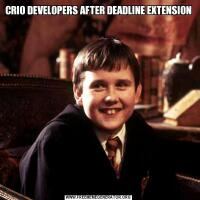 CRIO DEVELOPERS AFTER DEADLINE EXTENSION