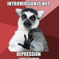 INTROVERSION IS NOT DEPRESSION