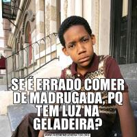 SE É ERRADO COMER DE MADRUGADA, PQ TEM LUZ NA GELADEIRA?