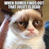 WHEN ROMEO FINDS OUT THAT JULIET IS DEAD
