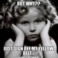 BUT WHY??JUST SIGN OFF MY YELLOW BELT...