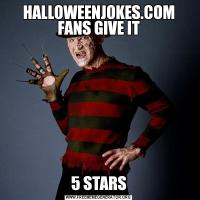 HALLOWEENJOKES.COM FANS GIVE IT5 STARS