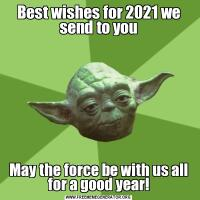 Best wishes for 2021 we send to youMay the force be with us all for a good year!