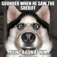 SOUNDER WHEN HE SAW THE SHERIFFPOINT A GUN AT HIM