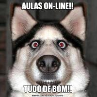 AULAS ON-LINE!!TUDO DE BOM!!