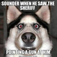 SOUNDER WHEN HE SAW THE SHERIFF POINTING A GUN AT HIM
