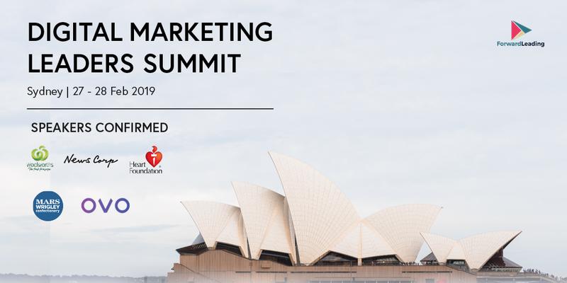 Digital Marketing Leaders Summit Sydney, Forward Leading