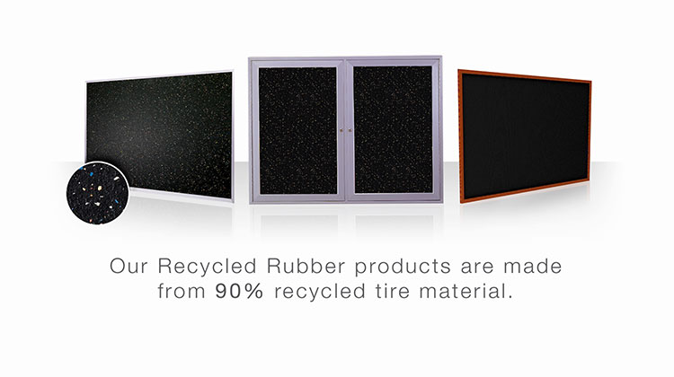 Recycled Rubber Bulletin Boards | Premium Boards | Ghent