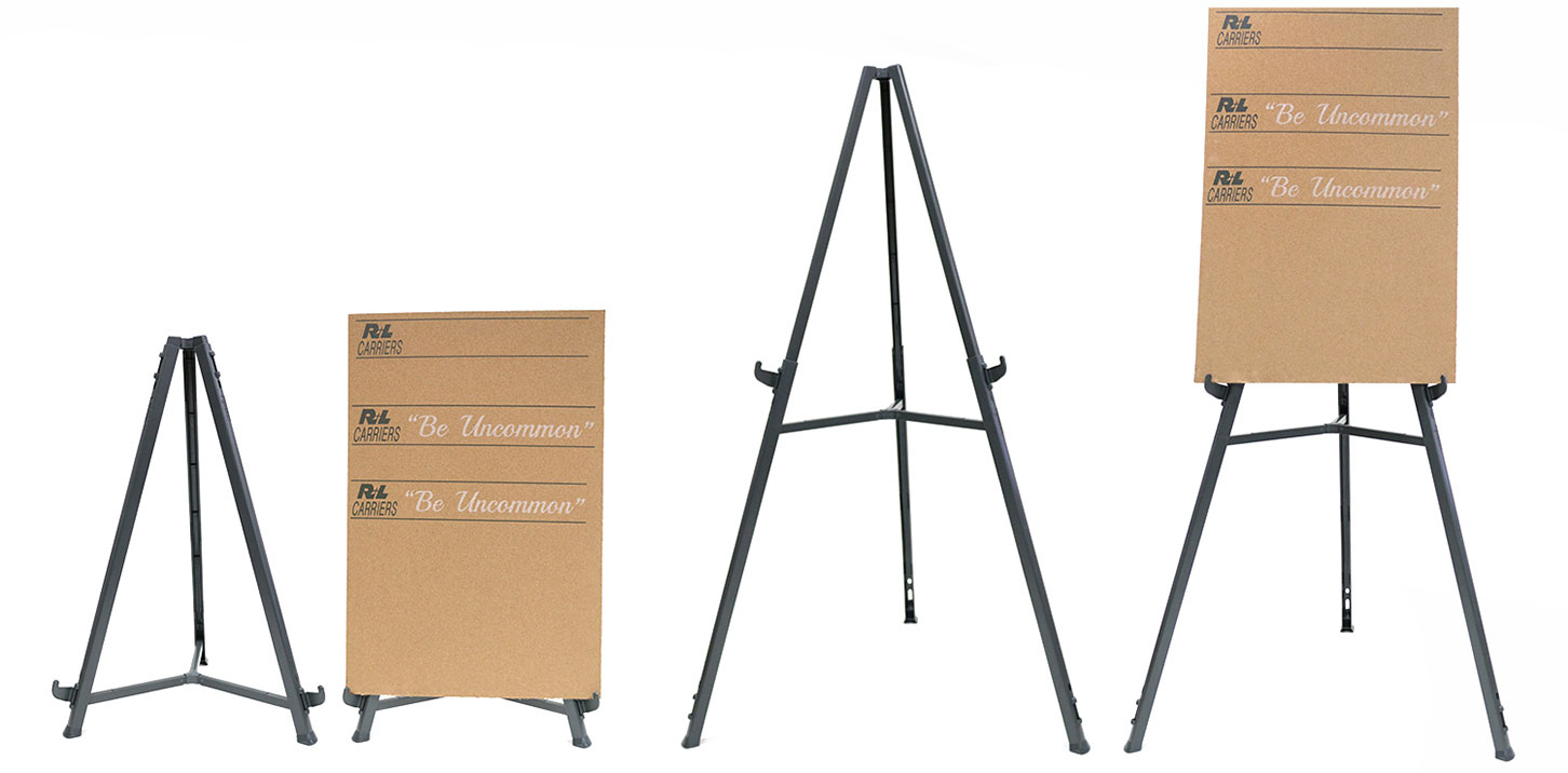 37-62 adjustable hieght for table top//floor Ghent 19250 Triumph Folding Display Easel