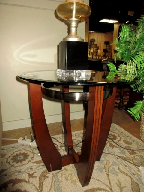 Rtg Glass Top End Table At The Missing Piece