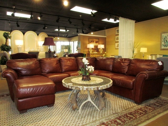 Chateau D Ax Leather Sectional At The Missing Piece