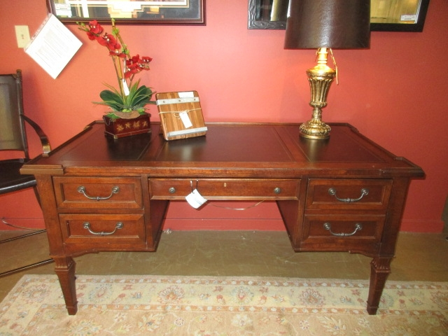 Stanley Desk W Leather Inlay At The Missing Piece