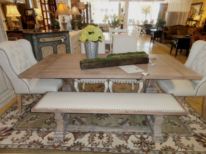 Fabulous Z Gallerie Table Four Chairs Bench At The Missing Piece Machost Co Dining Chair Design Ideas Machostcouk