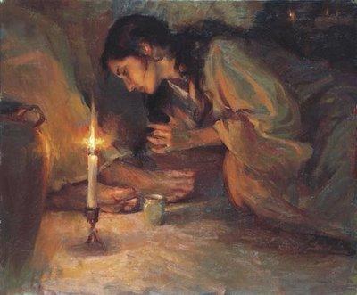mary washing Jesus feet