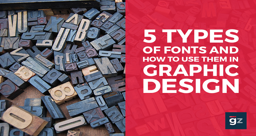 5 Types of Fonts and How to Use Them in Graphic Design