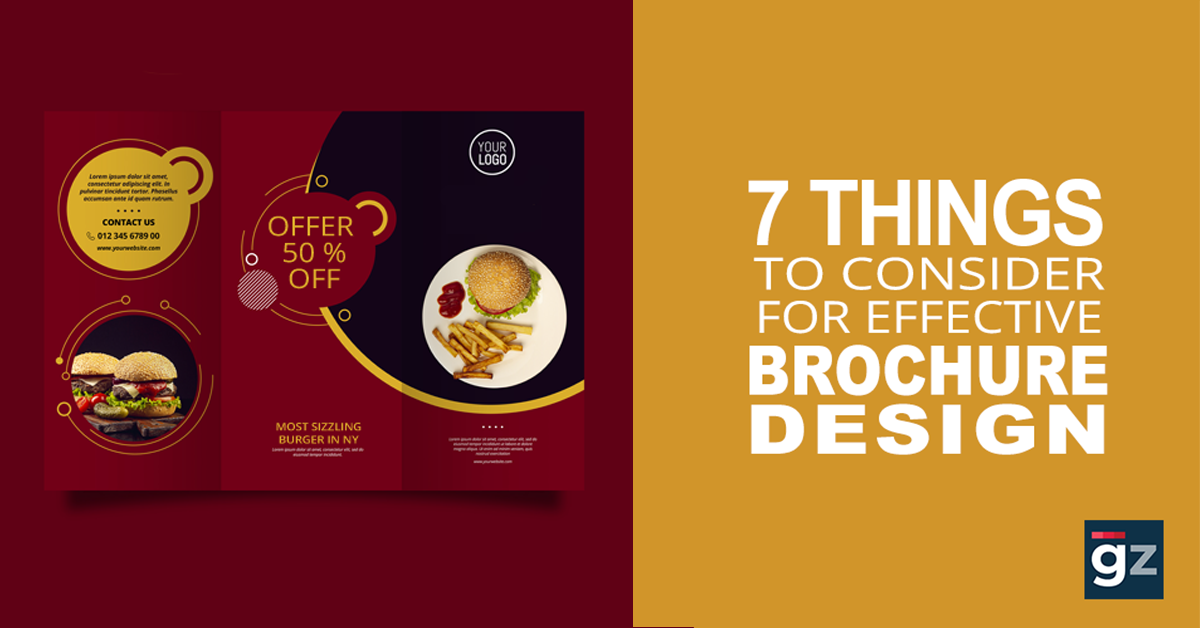 7 Things to Consider for an Effective Brochure Design