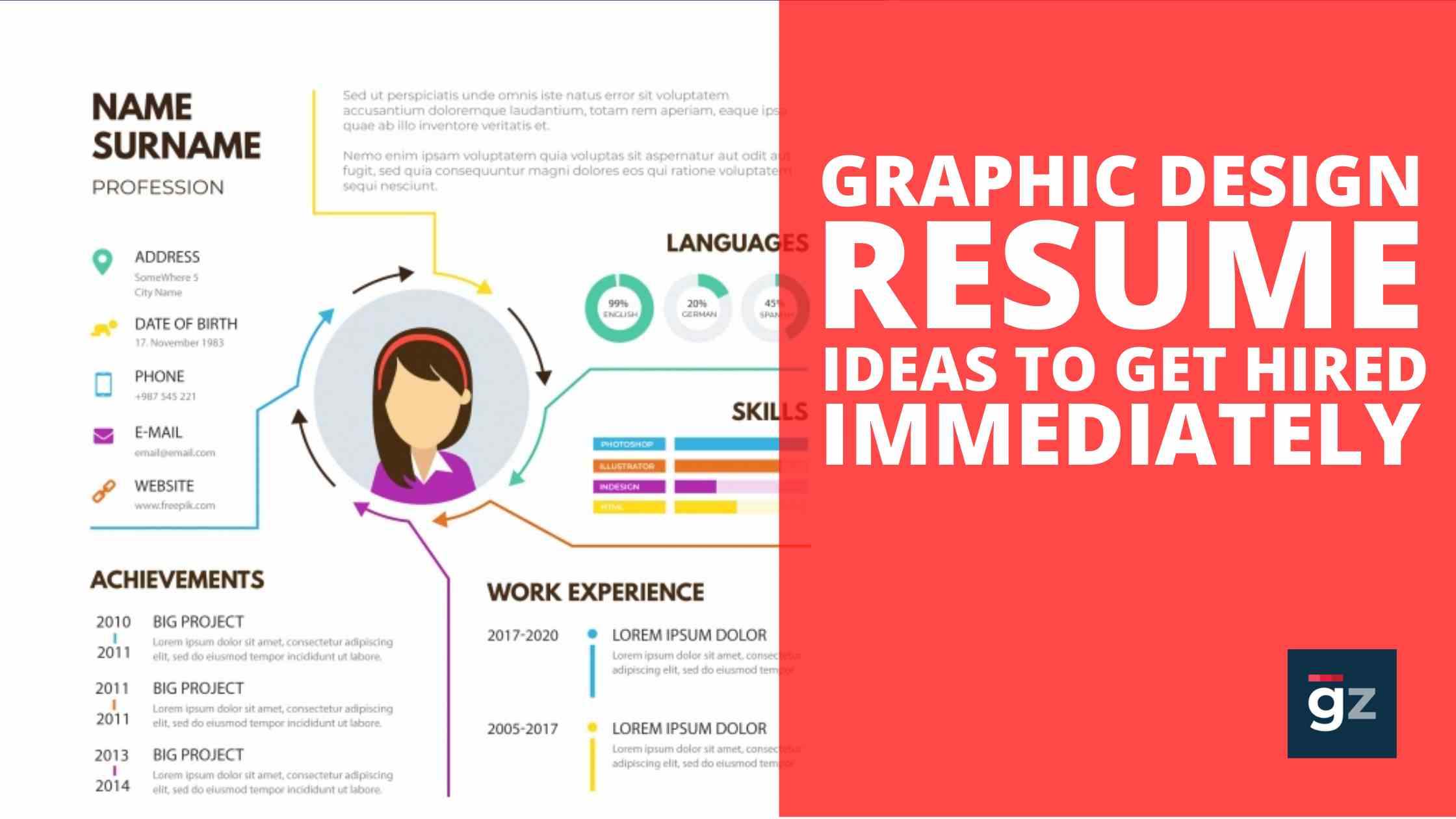 15 Amazing Graphic Design Resume Ideas to Get You Hired Immediately
