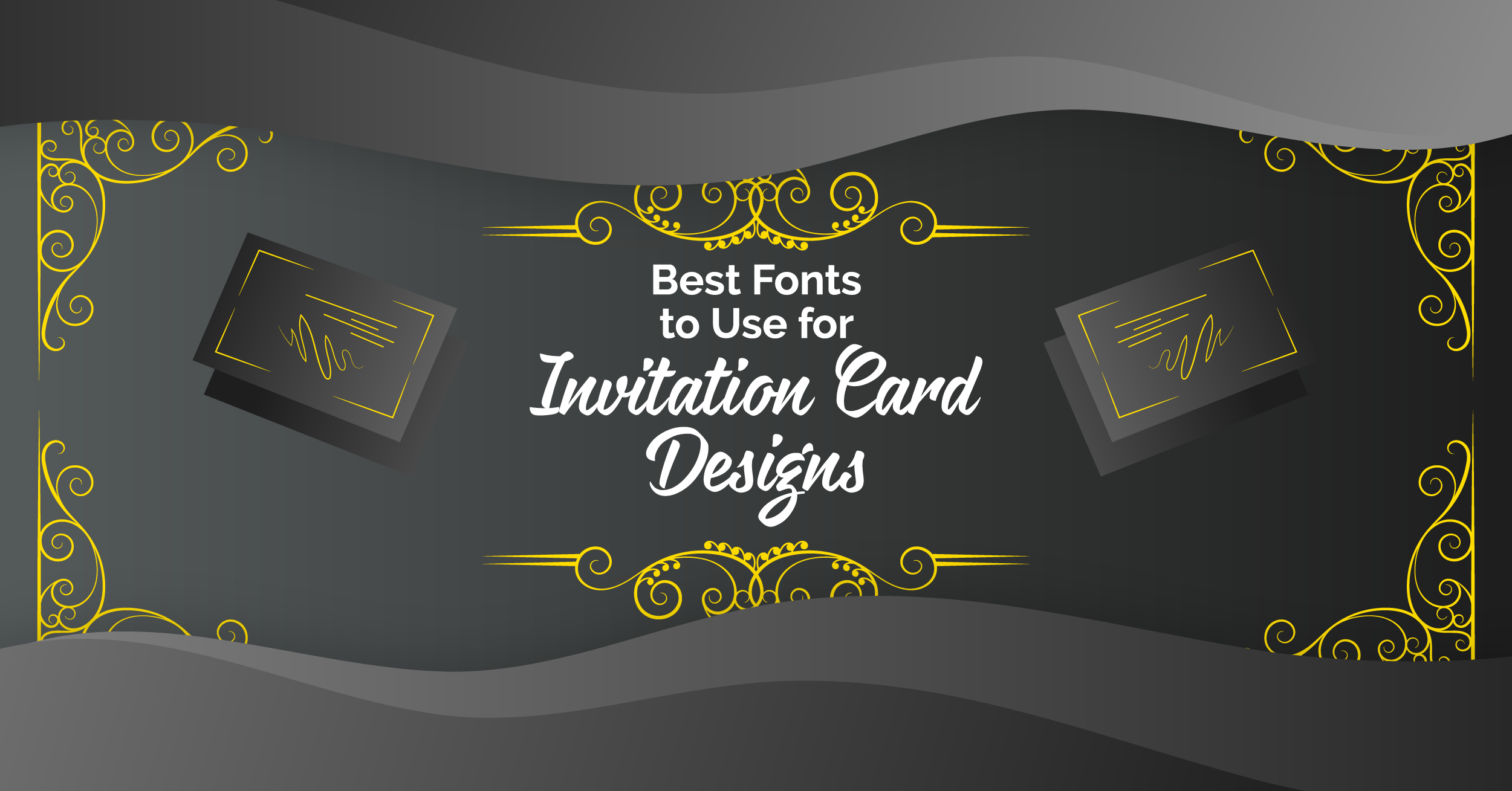Best Fonts to Use for Invitation Card Designs