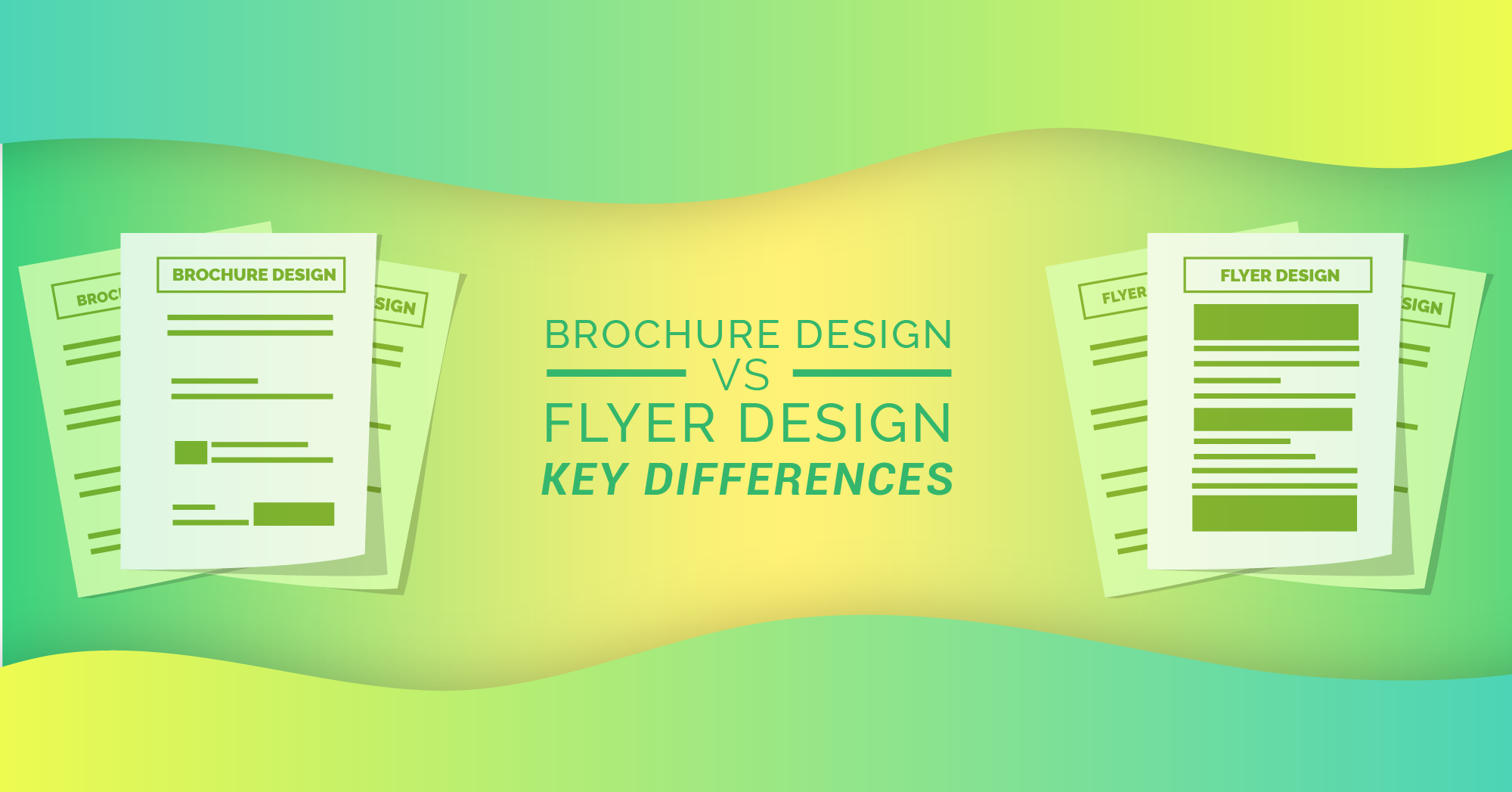 Brochure Design vs Flyer Design - Key Differences