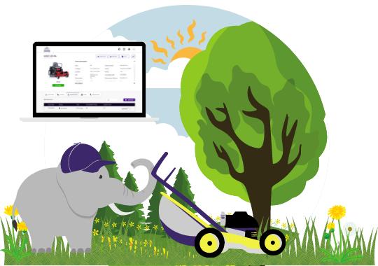 RFID Asset Management software for lawncare