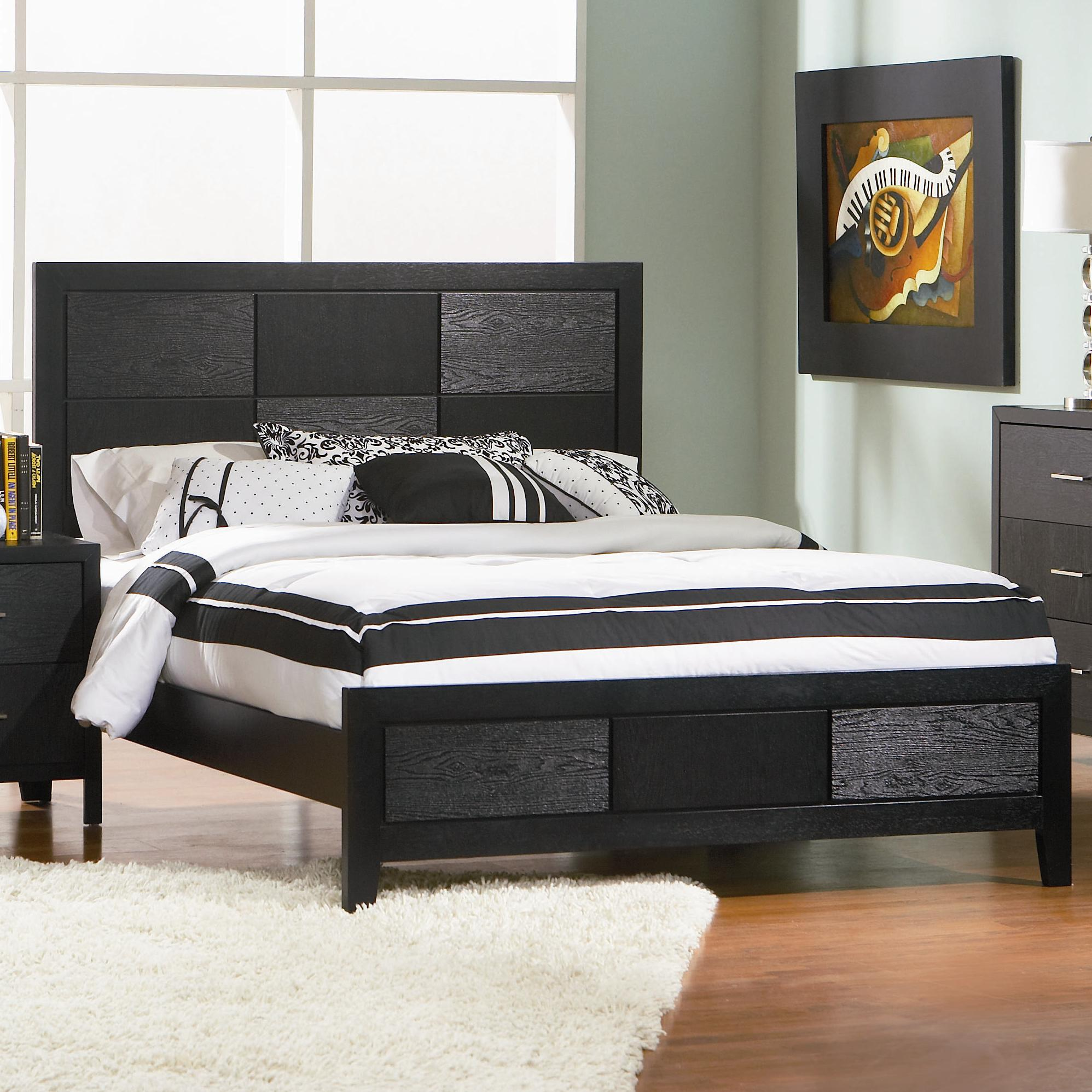 Coaster Transitional Cal King Bed With Black Finish 201651kw For Sale Online Ebay