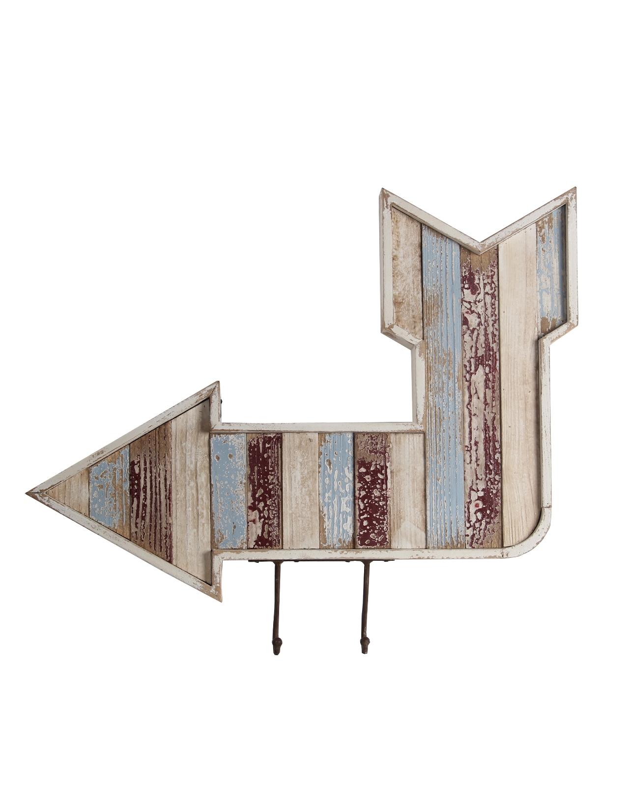 Privilege Wooden Wall Arrow in Hooks 25044