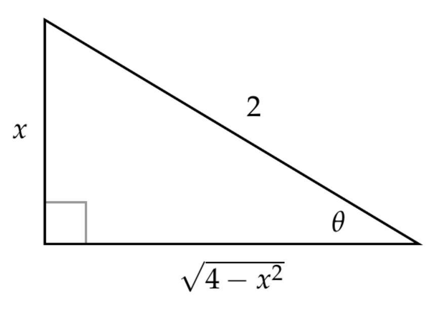 Right triangle to find cosine