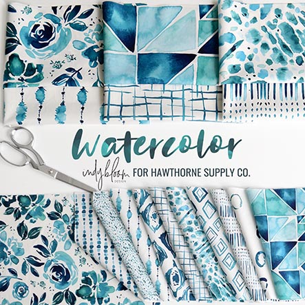 Watercolor - Indy Bloom Fabric Collection