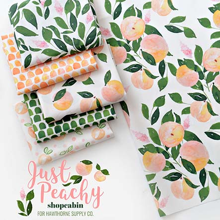 Just Peachy - Shopcabin Fabric Collection