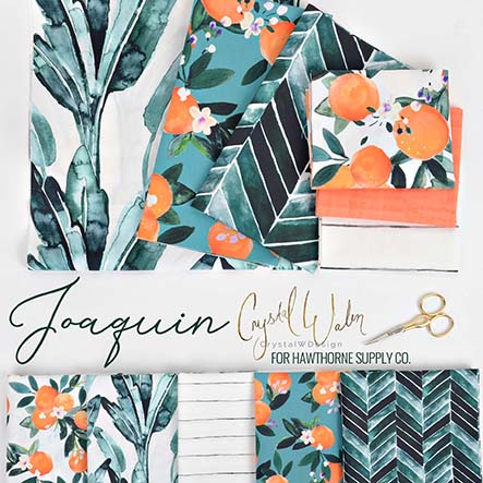 Joaquin- Crystal W Design Fabric Collection