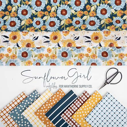 Sunflower Girl - Indy Bloom Fabric Collection