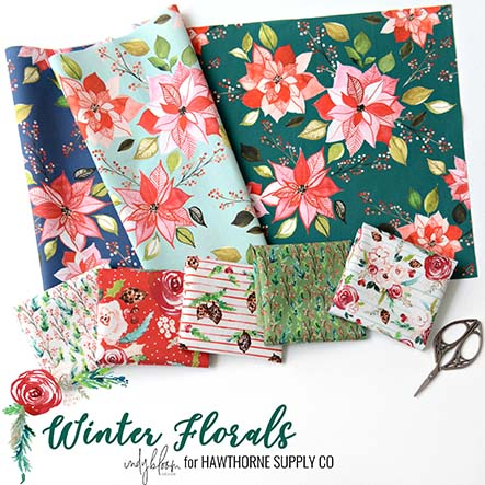 Indy Bloom- Winter Florals Fabric Collection