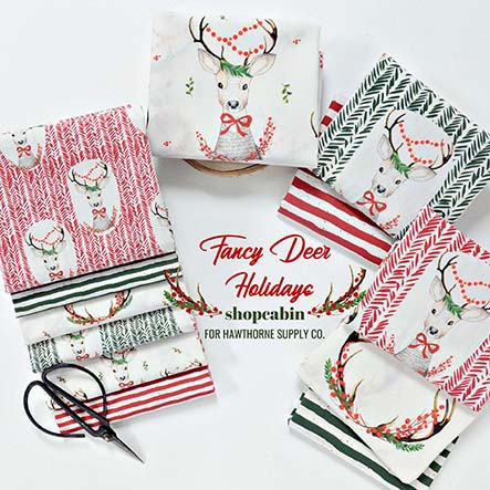 Shopcabin - Fancy Deer Holidays Fabric Collection