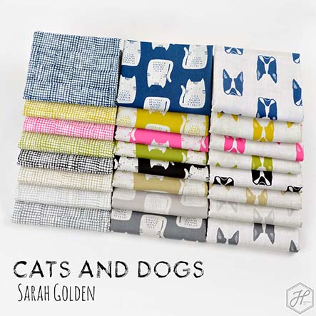 Sarah Golden - Cats and Dogs Fabric Collection