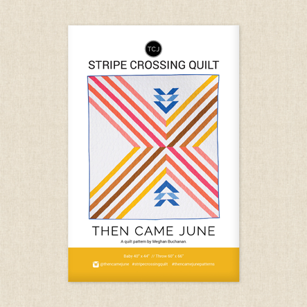 Stripe Crossing Sewing Pattern