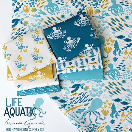 Marina Grzanka - Life Aquatic Fabric Collection
