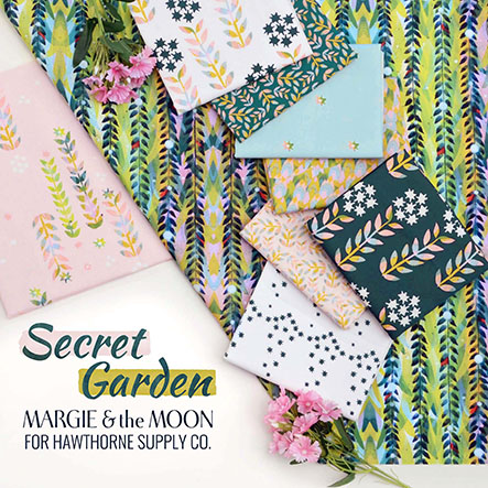 Margie and the Moon - Secret Garden Fabric Collection