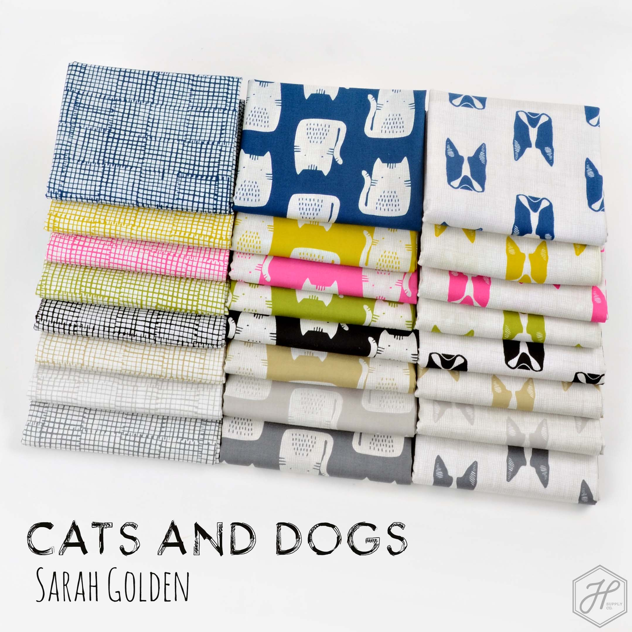 Cats and Dogs Fat Quarter Bundle